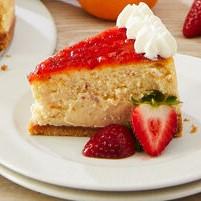 Strawberry Apple Rhubarb Cheesecake