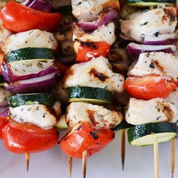 Greek Chicken Kabobs
