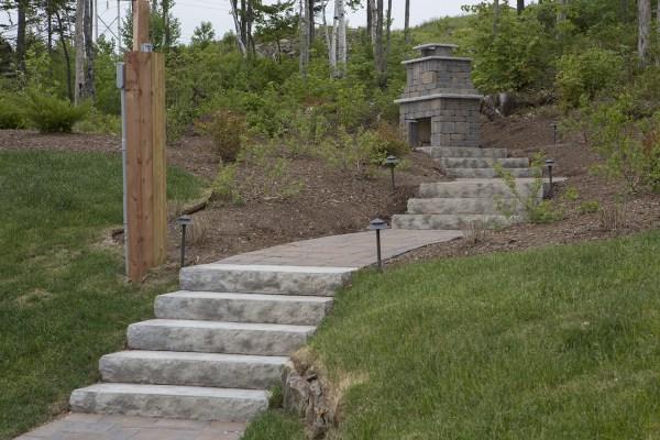landscape stone steps