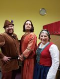 Ben Leach as Herman Huntsman, David Page as Dandilion, Karen Compton as Ivy Hood