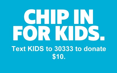 #ChipinforKids by Texting Your Donation