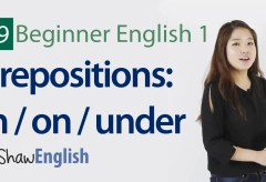 Prepositions in / on / under