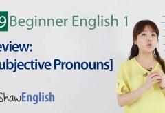 Review #1 – Subjective Pronouns