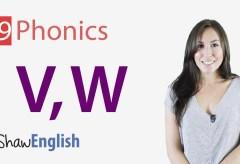 Consonants 'v' and 'w'