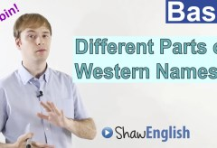 Different Parts of Western Names in English