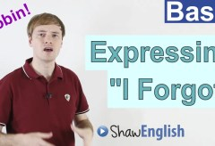 "How to express ""I Forgot"" in English"