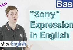 """How to Express """"Sorry"""" in English"""