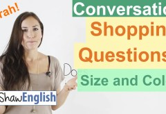 English Shopping Questions: Size and Color