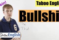 English Bad Words: Bullshit