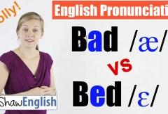 Bad /æ/ vs Bed /ɛ/ English Pronunciation