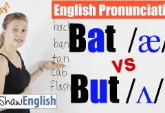 Bat /æ/ vs. But /Ʌ/ English Pronunciation