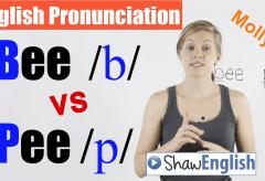 Bee /b/ vs. Pee /p/ English Pronunciation