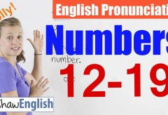 English Numbers 12-19 Pronunciation