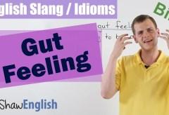 English Slang / Idioms: Gut Feeling