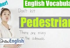 Using 'Pedestrian' in English