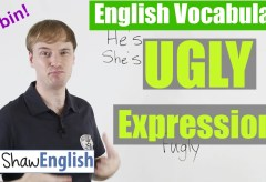 'Ugly' Expression in English