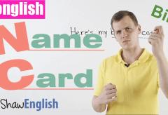 Konglish – Name Card