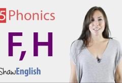 Consonants 'f' and 'h'