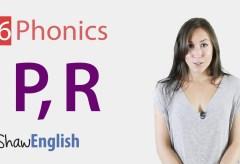Consonants 'p' and 'r'