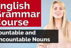 English Grammar Course Countable and Uncountable Nouns #5