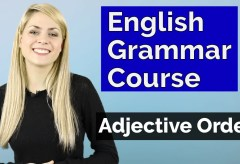 ADJECTIVES #4 | Adjective Order | Basic English Grammar