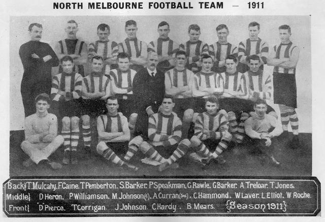 1911 North Melbourne Football Team 1911