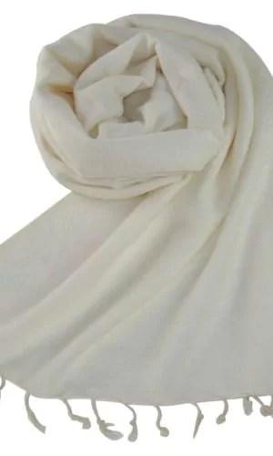 Nepal Sjaal Wit Kopen Online Winkel