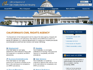 California Department of Fair Employment and Housing Website - After Image