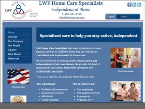 LWF Home Care Services Website - After Image
