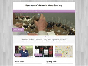 Northern California Wine Society Website - After Image
