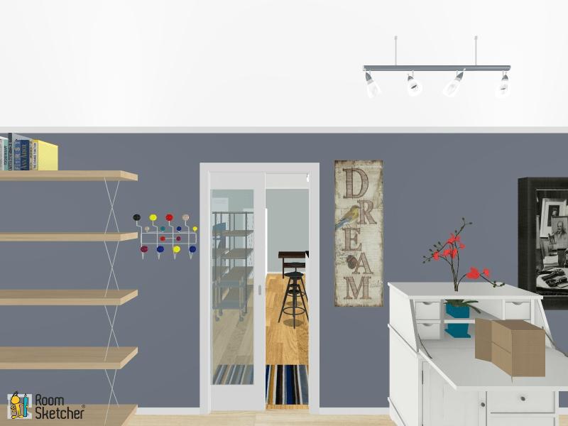 digital rendering of art studio
