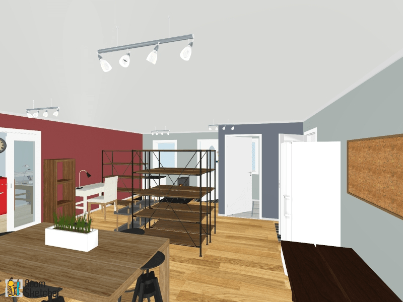 digital rendering of art studio