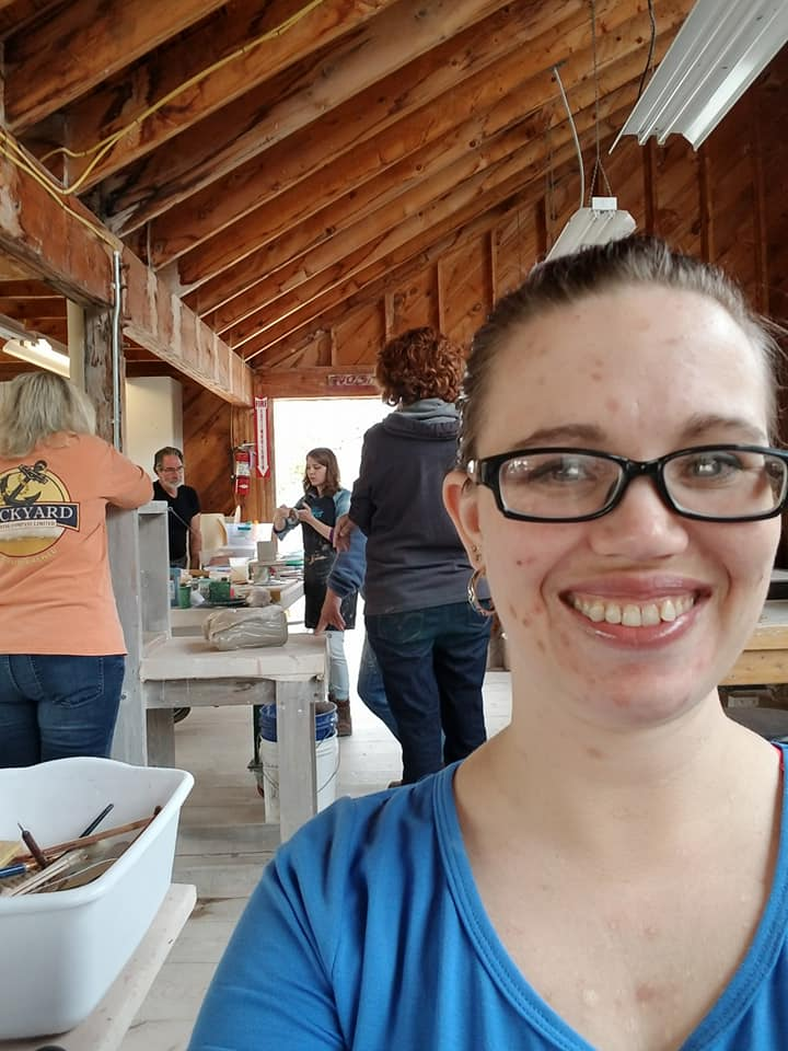 Ceramics workshop with Jessica Putnam Phillips during the Veterans in Craft Week at Haystack