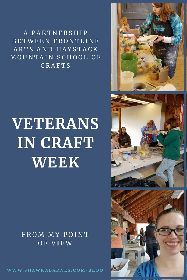 A blog/article about the Veteran in Craft Week at Haystack, 2018