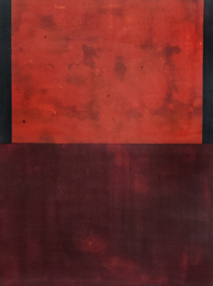 gnition - 40 x 30 inches Encaustic on wood panel