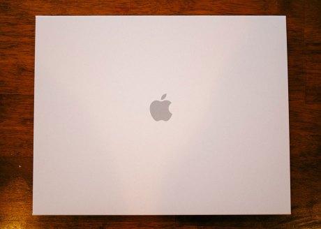 Apple Logo on the photo book Sleeve