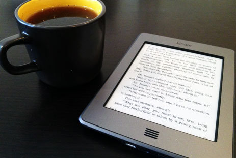 A nice combination: the Kindle Touch and a cup of coffee