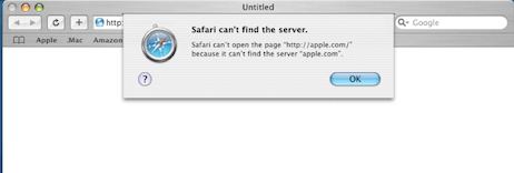 Safari 1 Error Display