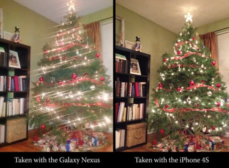 Galaxy Nexus Camera compared to the iPhone 4S Camera
