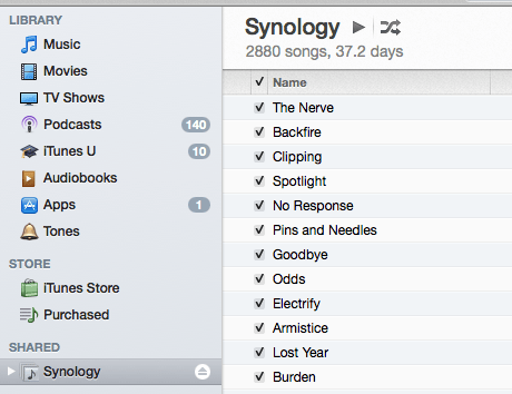 Synology and iTunes