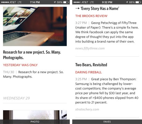 Unread App - Article List View