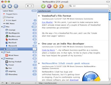 NetNewsWire 3.0 screenshot
