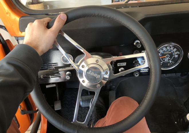 CJ-7 Jeep Grant Steering Wheel