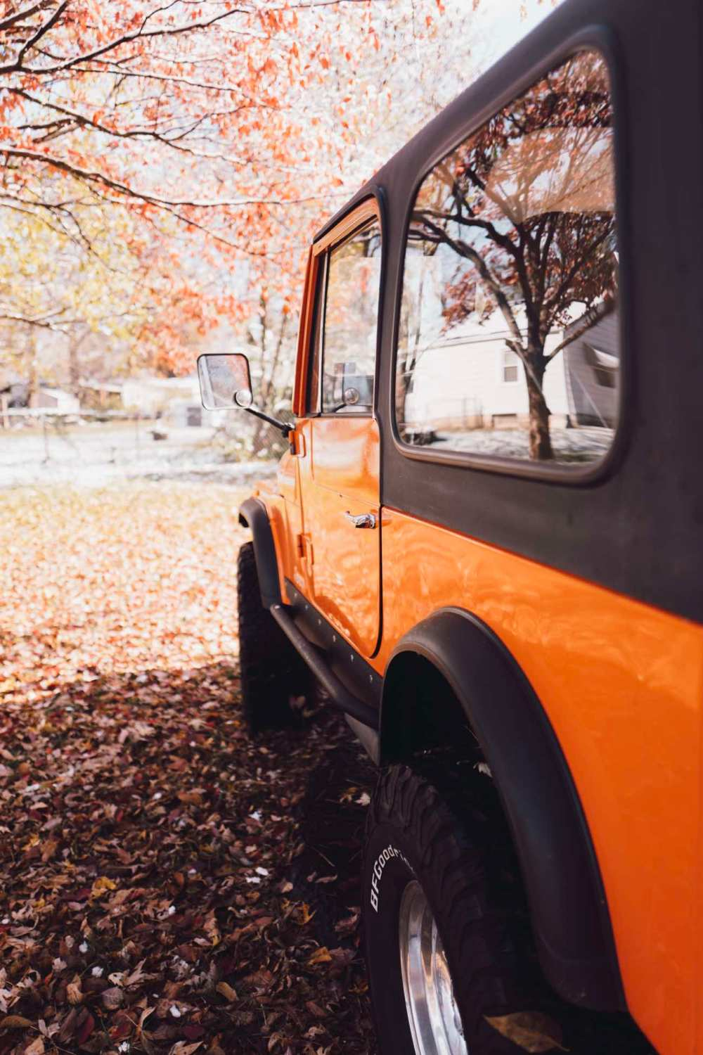 medium resolution of orange jeep cj 7