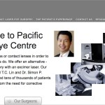 Pacific Laser Eye Centre homepage.