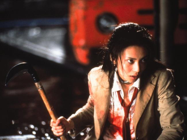 Battle Royale movie image girl with scythe