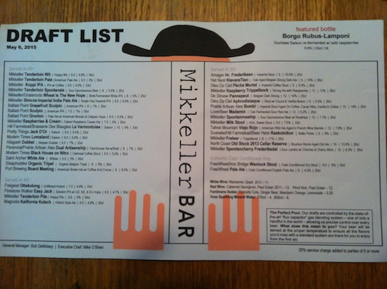 Mikkeller_SF_menu