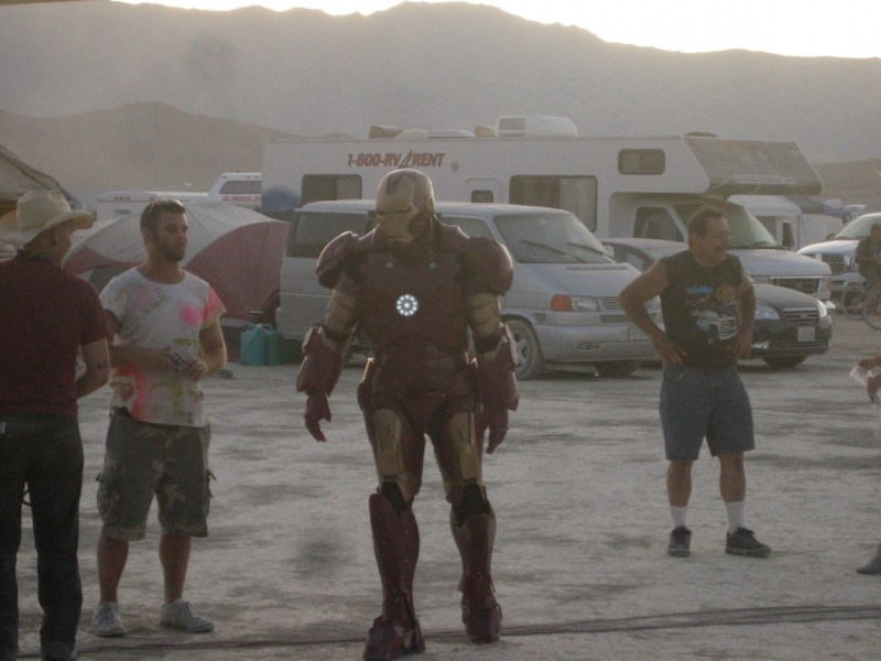Iron Man makes an appearance at Burning Man 2009