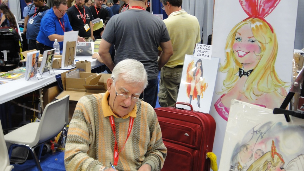 Playboy cartoonist Doug Sneyd at the 2011 San Diego Comic-Co