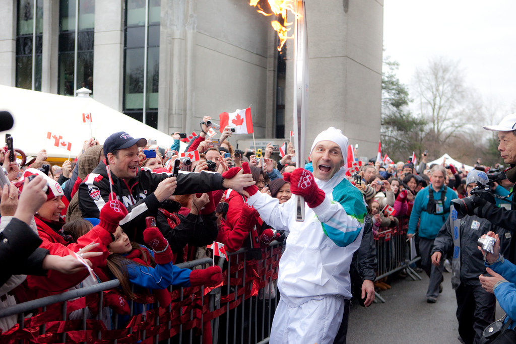 Louise Papais on the Olympic torch relay